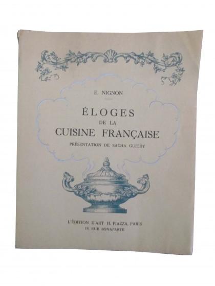 Eloge de la cuisine francaise presentation de sacha for Anciens livres de cuisine